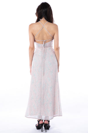 Wisteria Maxi Dress in Pink
