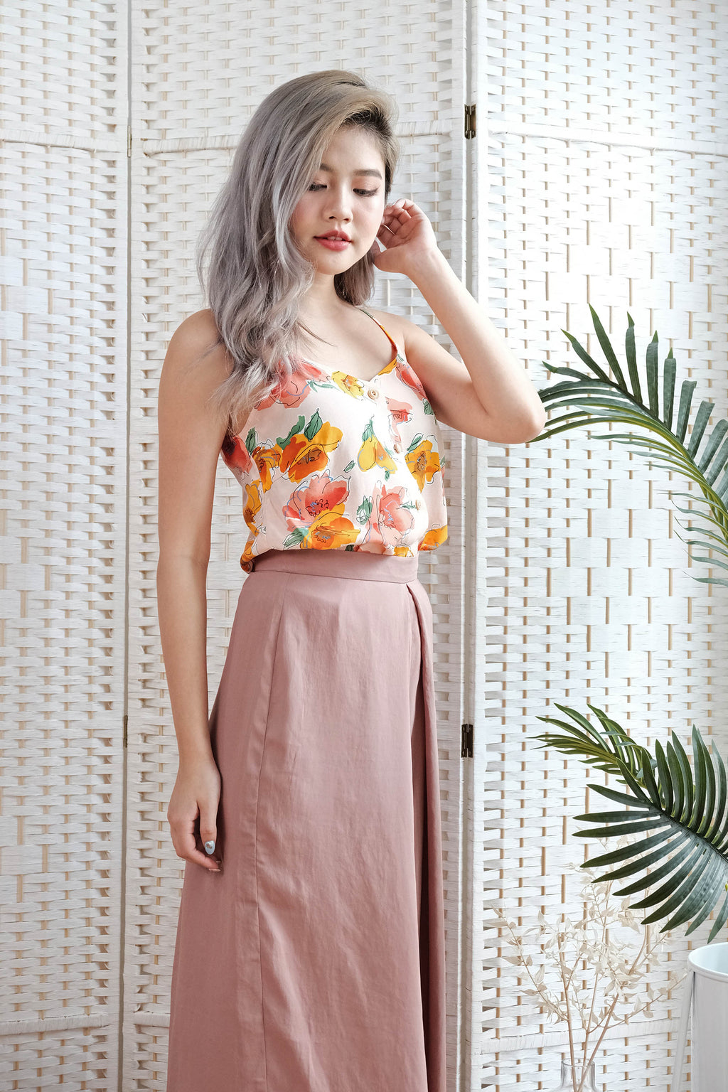 Alicia Cami Top in Apricot