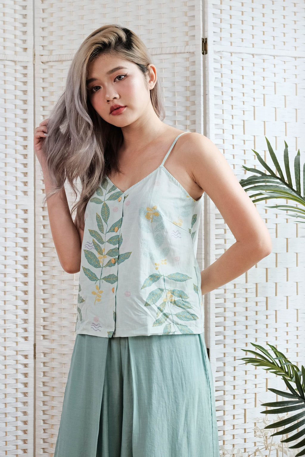 Alicia Cami Top in Mint