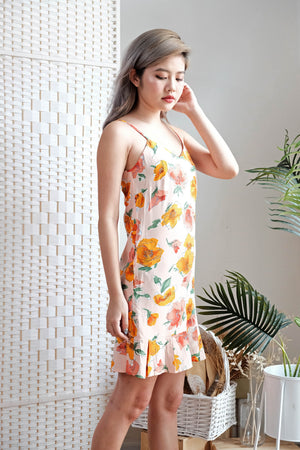 Amelia Cami Dress in Apricot