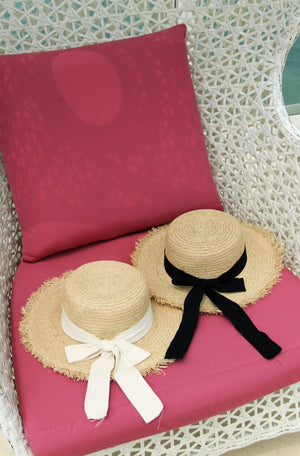 Diana Straw Hat in Black