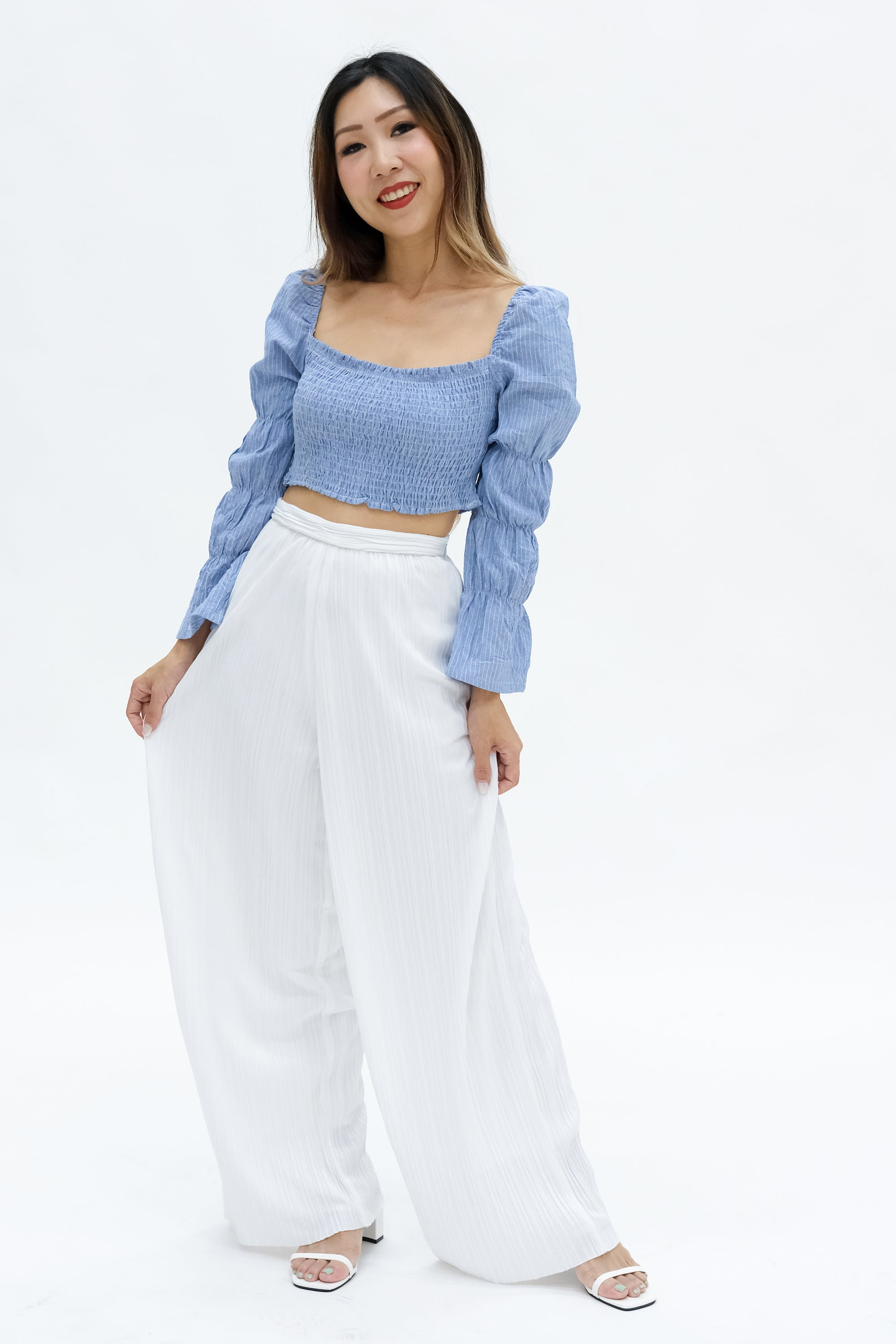 Hera Pleated Pants in White