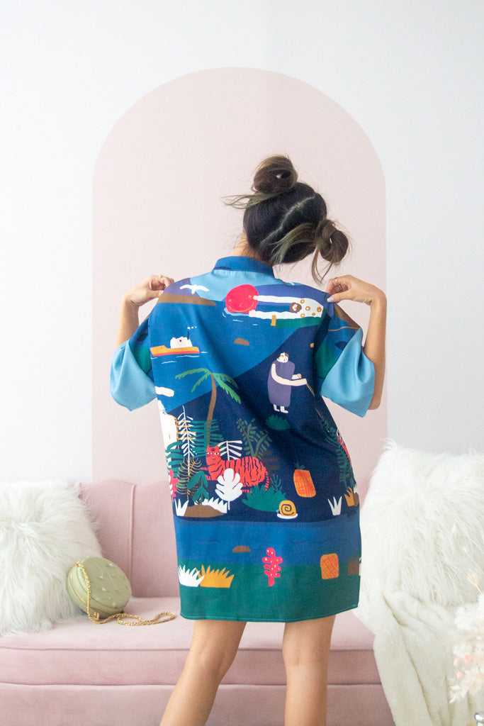 [Backorder] Meadow Abstract Oversized Qipao