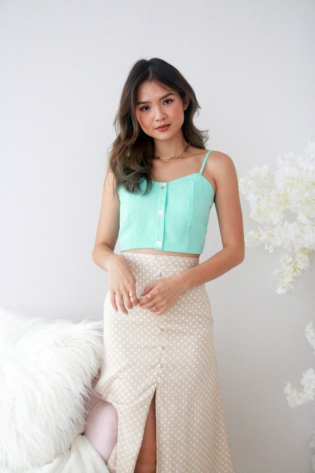 Eye Candy Crop Top in Mint