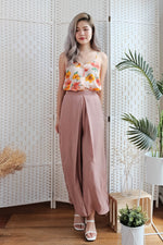 Janie Pleated Pants in Mauve