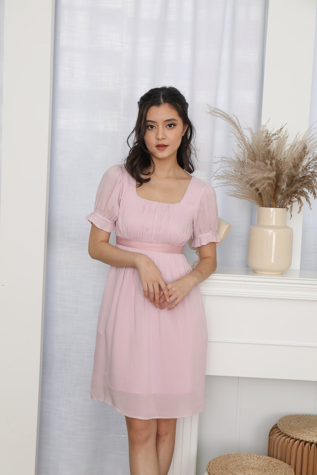 Francesca Baby Doll Dress in Pink