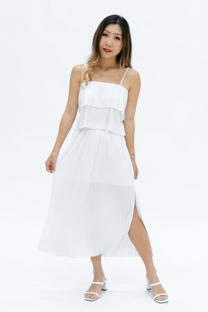 Sonja Pleated Skirt in White