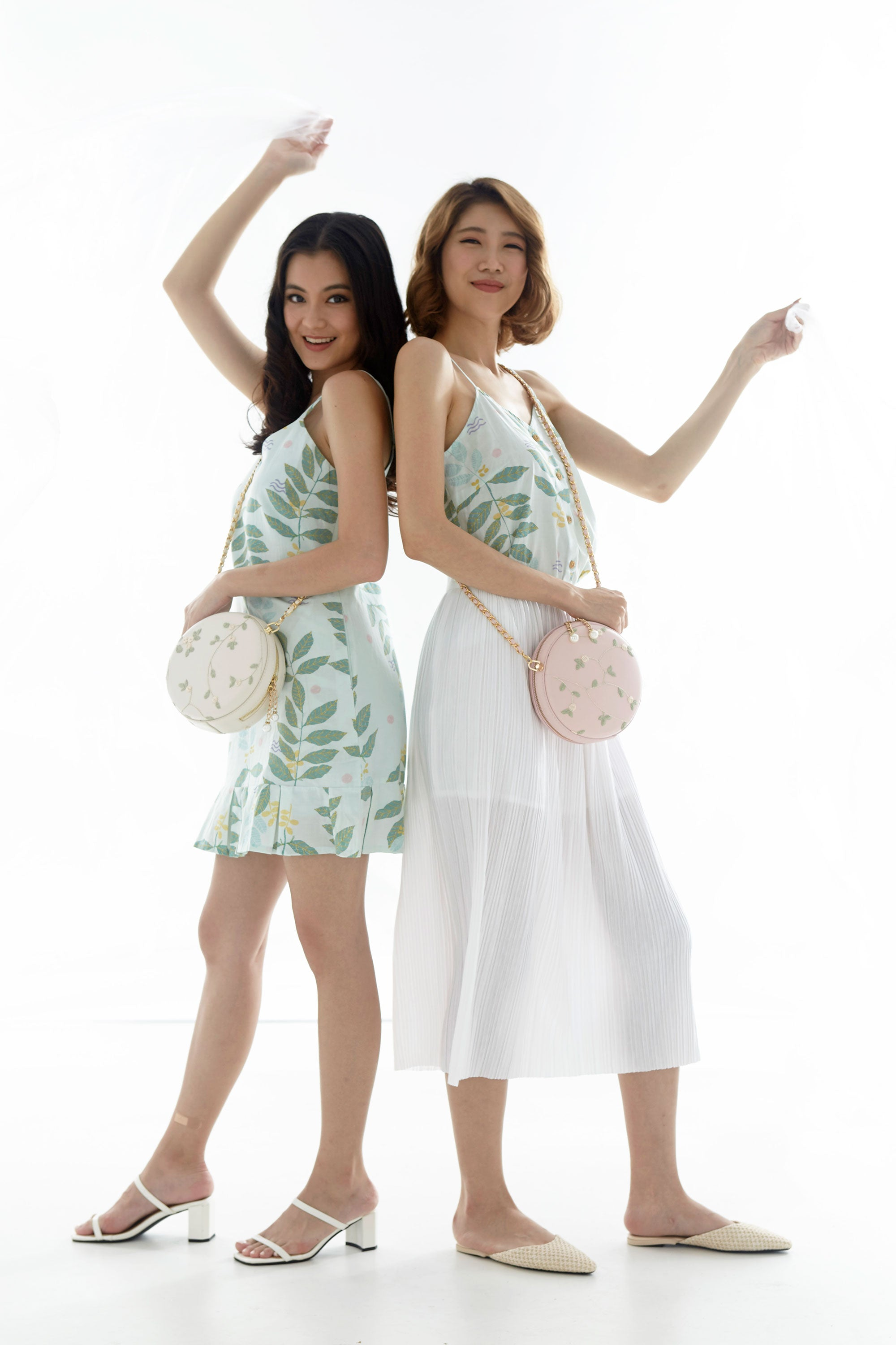 Sujin Floral Macaron Bag (Available in Pink, White and Sage)