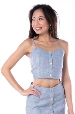 Sereia Crop Top in Navy