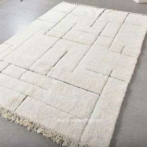 Badis Wool Rug - 8 x 5' - Beni Ouarain Authentic Handmade