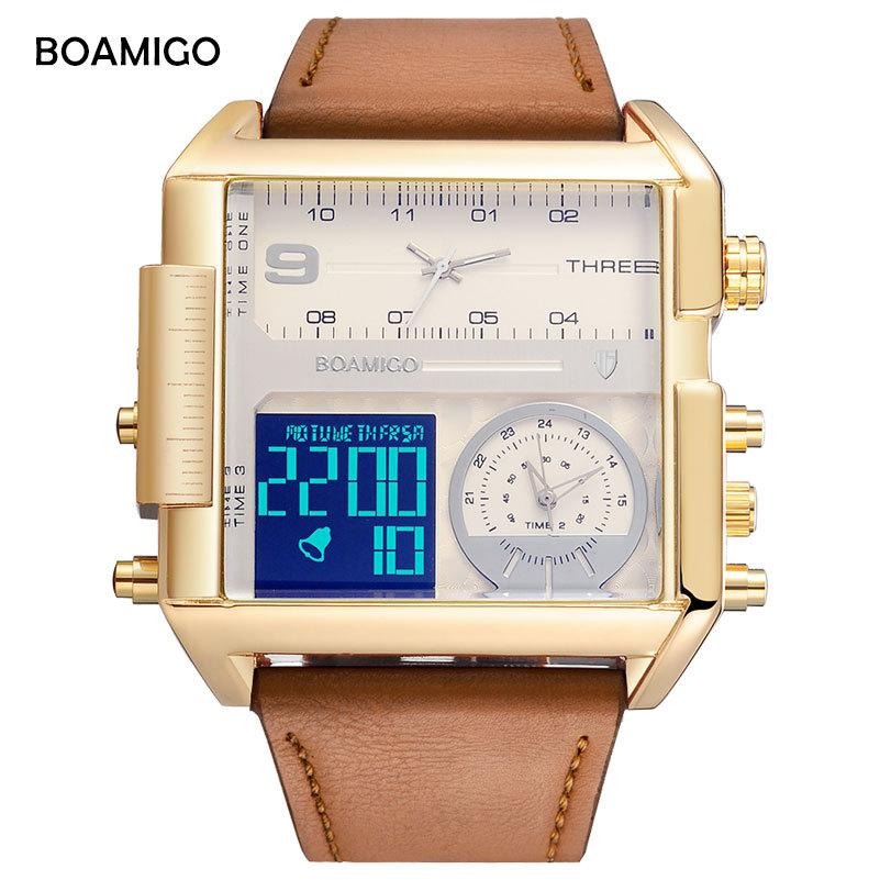 BOAMIGO brand men sports watches