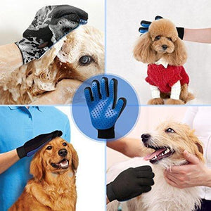Five Finger Deshedding Glove- Premium Version, Great for Cats & Dogs