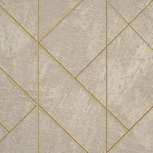 Mosaico Collection wallpaper rough bagckround with gold lines