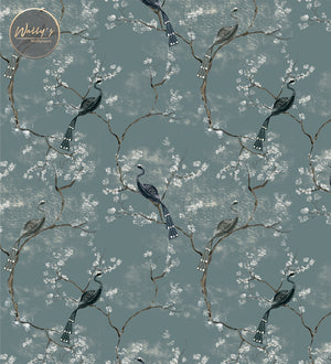 Chinoiserie blue