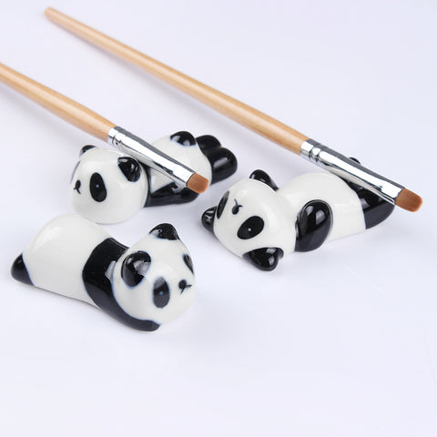 Panda Nail Brush Pen Rack Ceramic Stand Holder - Pandarling