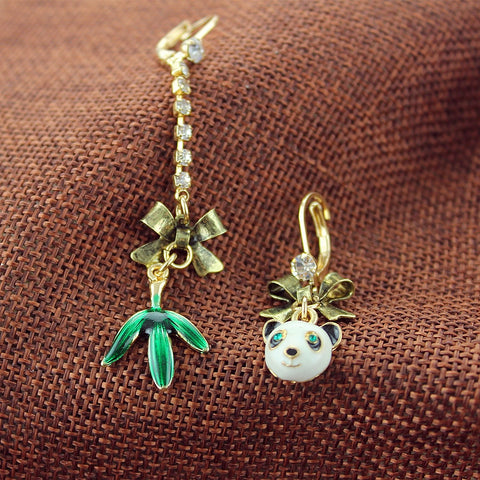 the panda earrings for women Length earrings - Pandarling