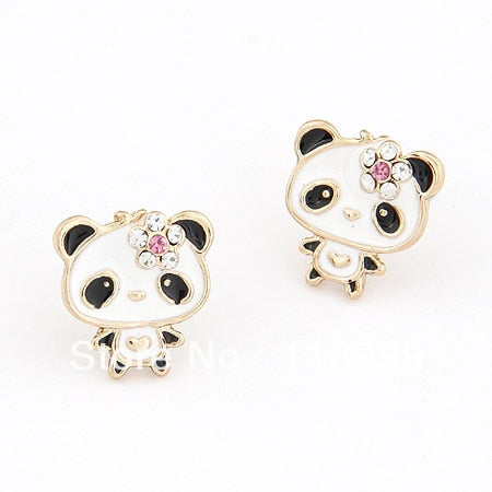 Cute Panda Earrings Lovely Animal earrings - Pandarling