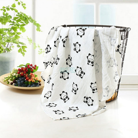 Cute Panda Printed Baby Bath Towel Blankets - Pandarling
