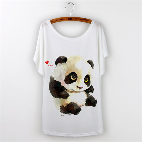Panda Print T-shirt Women - Pandarling
