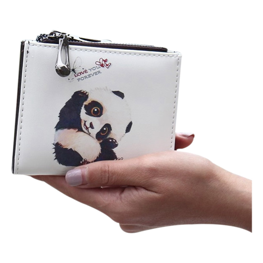 cartoon wallet short women wallet zipper(Panda) - Pandarling