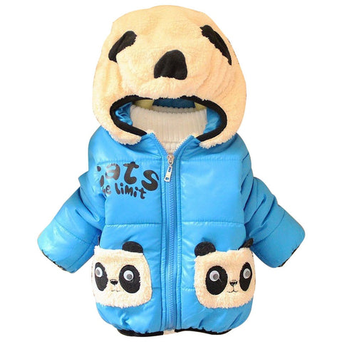 Cartoon Panda hooded Kids Coat - Pandarling