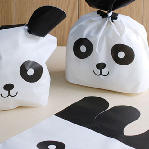 20pcs Cute Panda Cartoon Biscuit Bag Plastic Bags Box - Pandarling