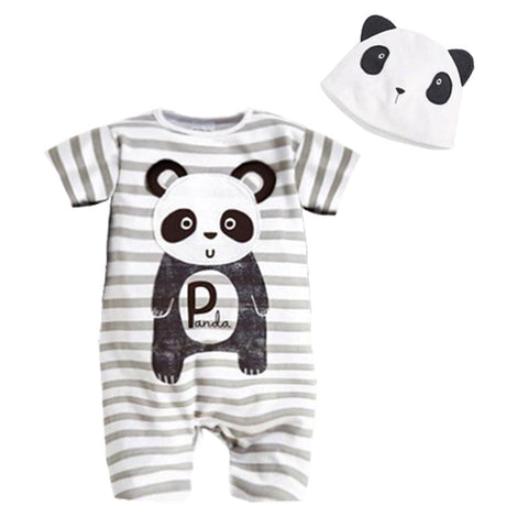 Newborn Baby Clothes Romper+Hat Baby Girls Clothing - Pandarling