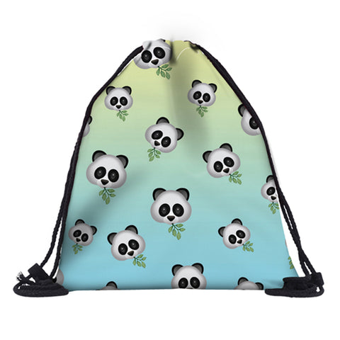 Cute Drawstring Bag 3D Printed Panda for Girls Shoes - Pandarling