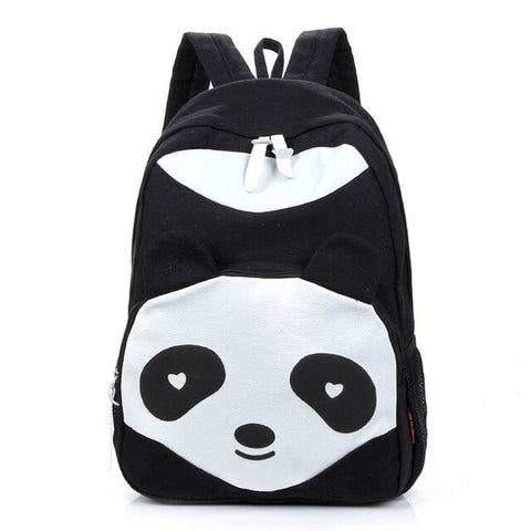 cartoon panda women Leisure canvas backpack - Pandarling