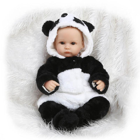 Newborn baby doll  real touch cotton body panda newborn  doll - Pandarling