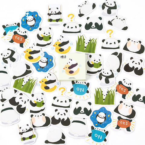 45PCS/box Panda Diary Paper Lable Stickers Decorative - Pandarling