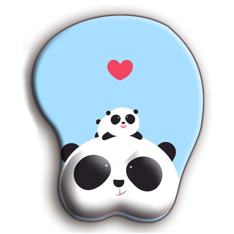 Anime Panda 3D Mouse Pad Soft Silicon Gel Gaming Mousepad - Pandarling