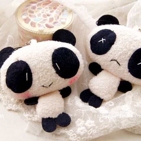 Panda Plush Stuffed Key Chain Wedding Bouquet Toy Doll - Pandarling