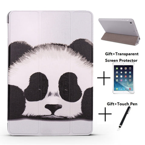 Panda Opaque Soft Sleep Wake Up Holder Cover Case for iPad - Pandarling
