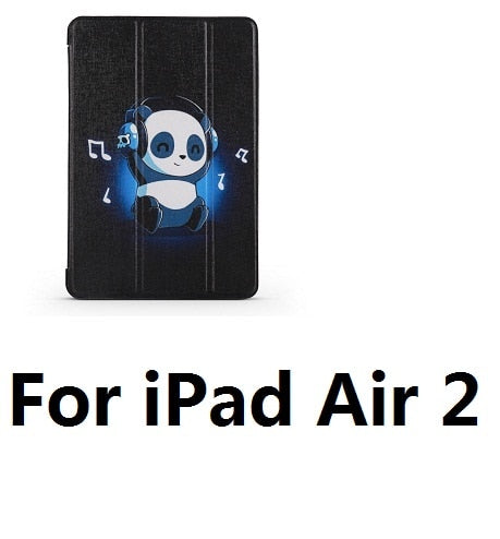 Blue Panda Opaque Soft Sleep Wake Up Cover Case for iPad - Pandarling