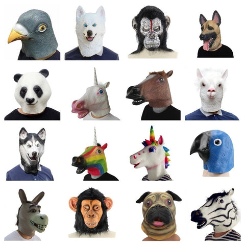 Animal Mask latex party Panda Animal Mask Party Halloween - Pandarling
