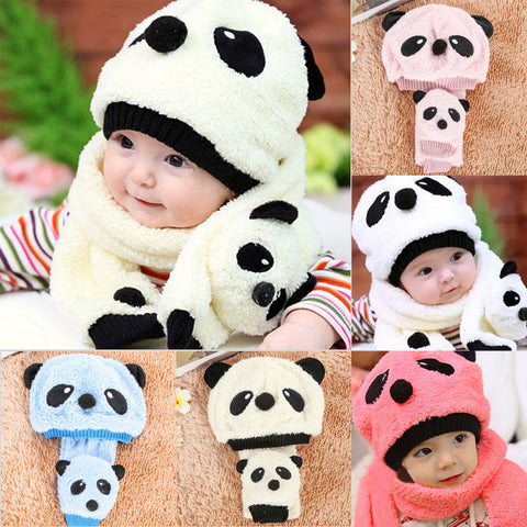 Kids Winter Warm Hats and Scarf Panda Caps - Pandarling