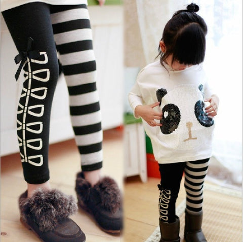 Baby Colthes  Chidlren Autumn Clothing Girls Panda Long Sleeve Pants - Pandarling