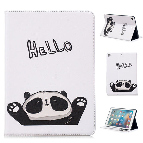 White Panda Pattern Support Protective Cover Case for iPad Air 1 2 iPad 2 3 4 Mini 1 2 3 4  Pro 9.7 10.5 2017 2018 9.7 inch - Pandarling