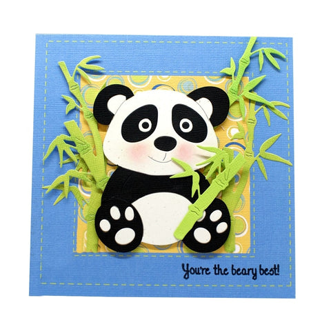 Cartoon Panda Animal DIY Paper Cards - Pandarling