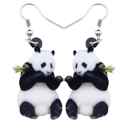 Cartoon Lovely Panda Earrings - Pandarling