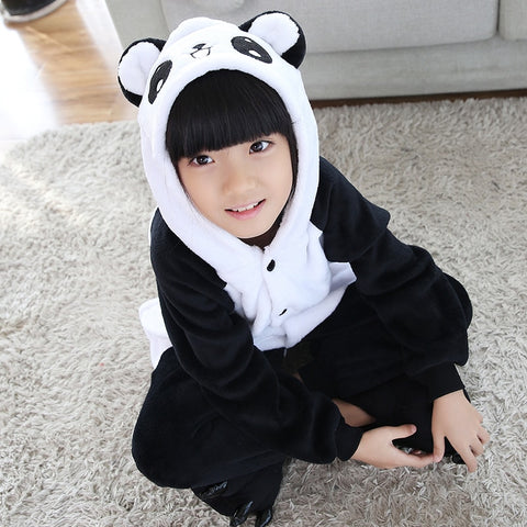 Animal Panda Pajamas Children Onesie Sleepwear kids - Pandarling