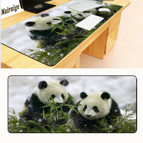 400*900 Locking Edg Mousepad Rubber Mouse Mat Keyboard Large Panda - Pandarling