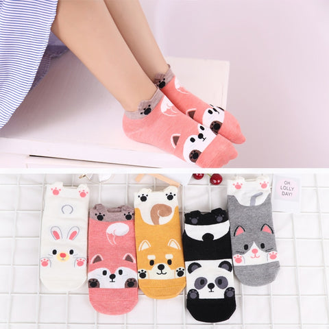 Cute Panda Funny Low Socks Female - Pandarling