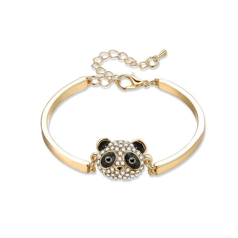 Panda shape bracelet inlaid rhinestone fashion lovers jewelry - Pandarling