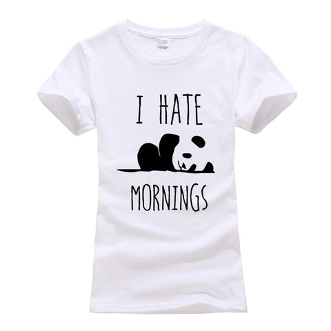 Panda I HATE MORNINGS cute Tshirt - Pandarling