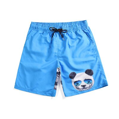 Quick Drying Creative Panda Printed Mid Beach shorts - Pandarling