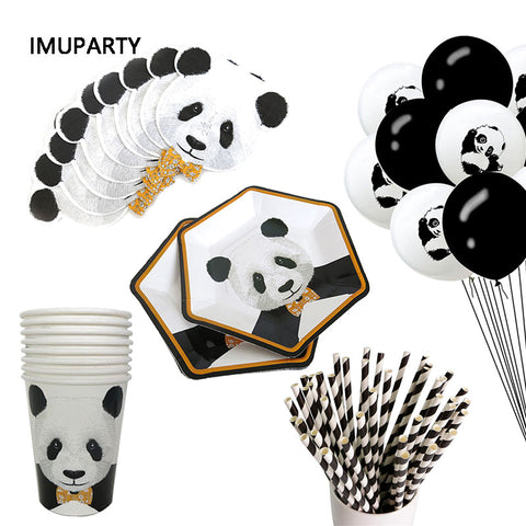 Panda Party Disposable Tableware Plate Cup Decorations - Pandarling