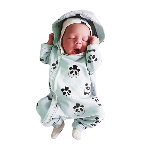 Spring Autumn infant romper Baby Jumpsuit Panda baby clothes - Pandarling