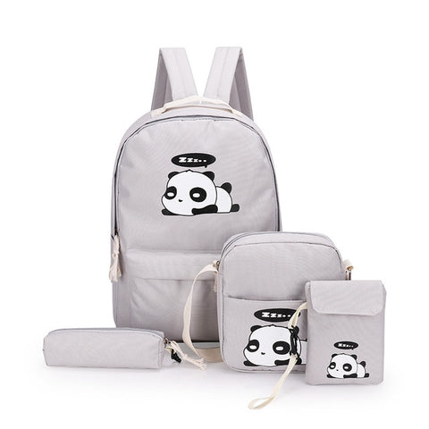 DIOMO panda bag female canvas school backpack - Pandarling